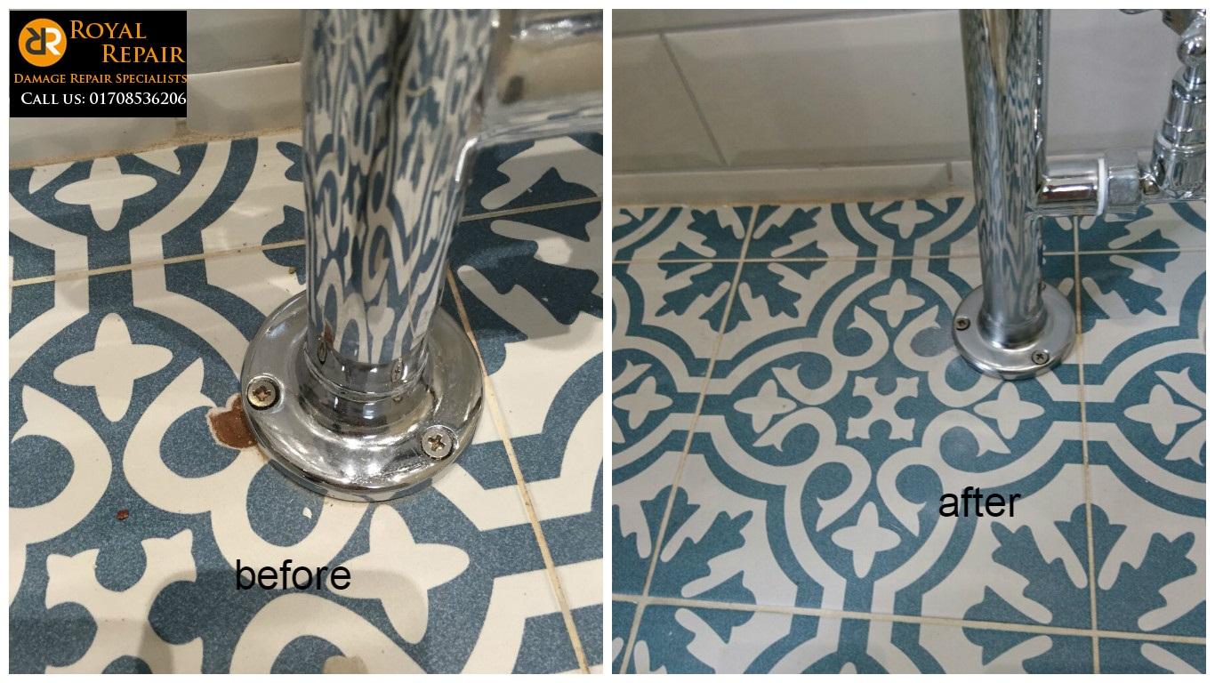 Tile flooring repair