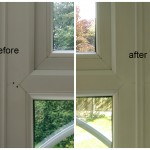 Window frame holes repair