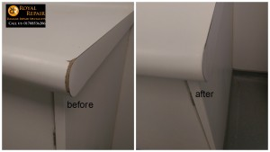 Worktop chipped edge repair