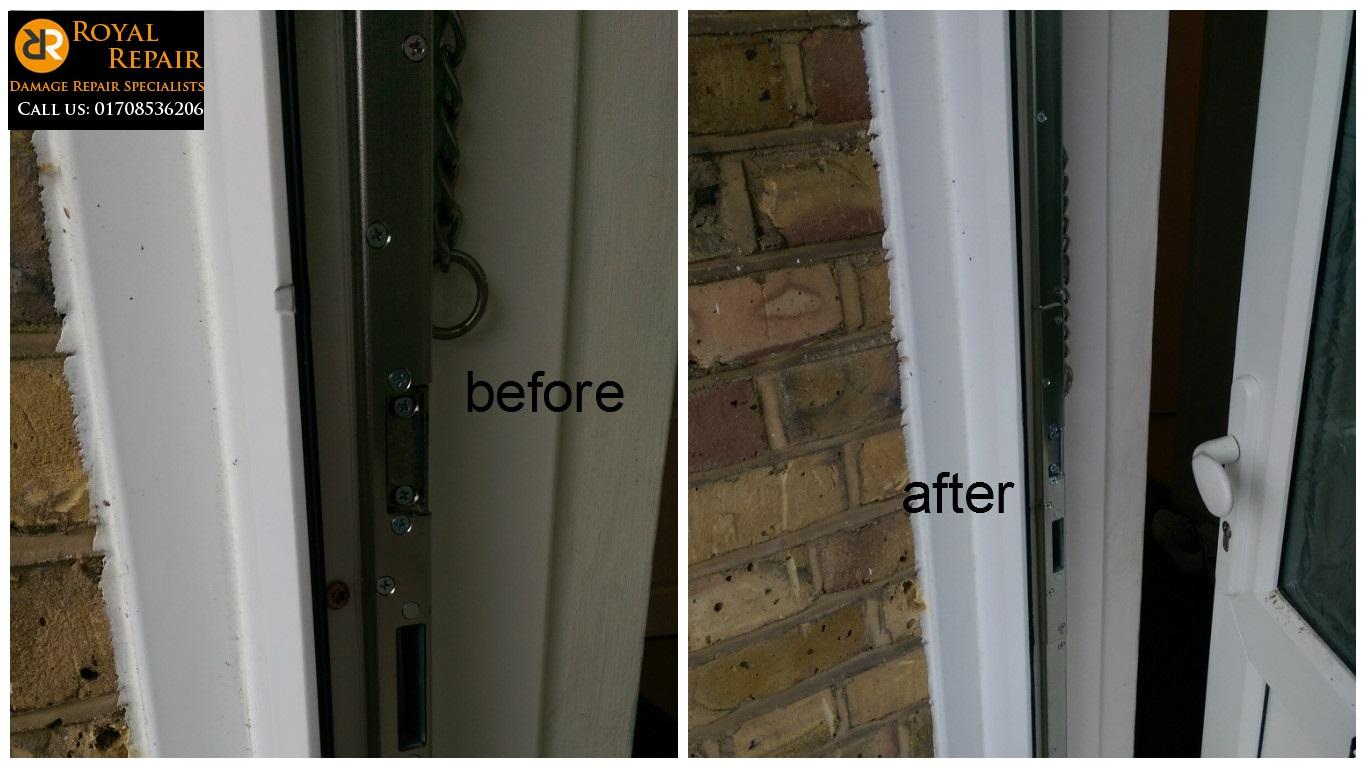 Burglary break-in damage repair - Royal Repair