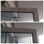 Aluminium-Door-frame-holes-magicman-repairs-London