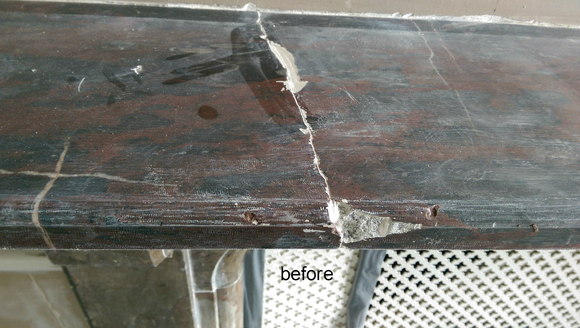 Chipped Marble Fireplace Royal Repair