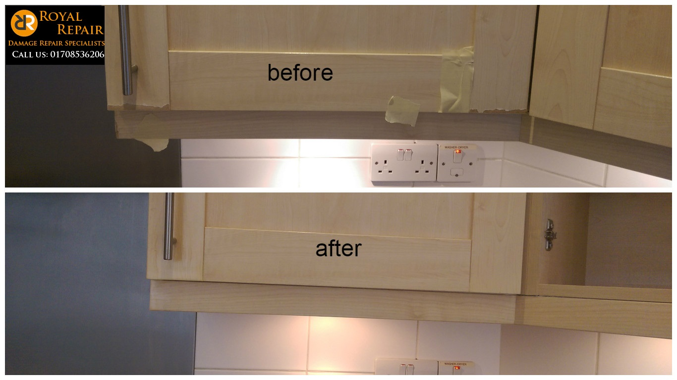 Kitchen cupboard door repair - Royal Repair