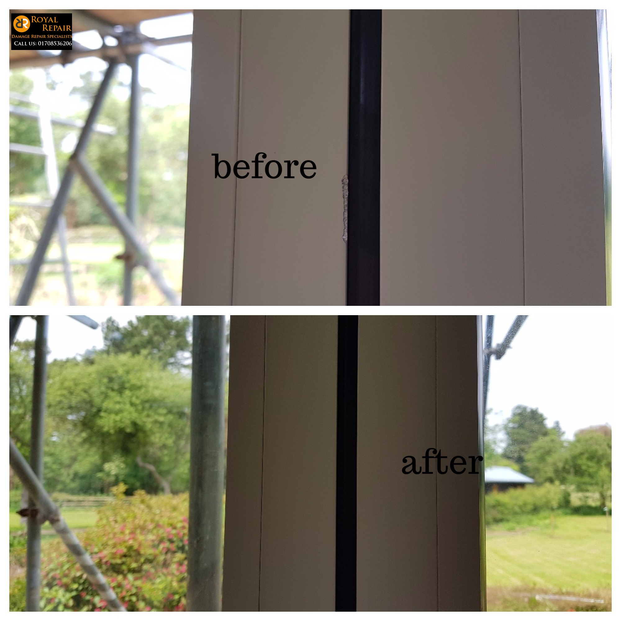 Window frame chip repair in Barnet, London - Royal Repair