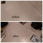 magic man Floor Tile hole repair in London