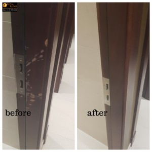 break-in door frame damages repair in London