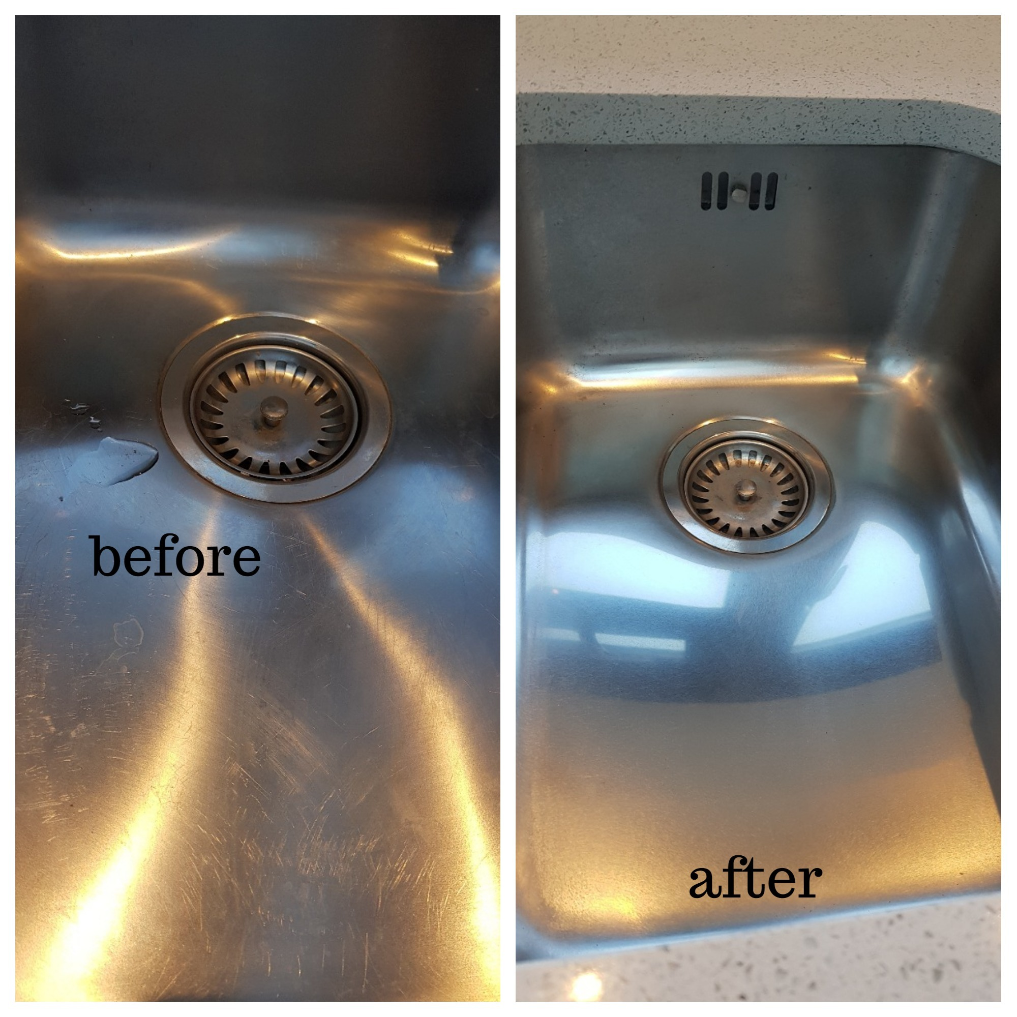Stainless Steel Sink Scratches Repairs In North London