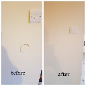 wall hole repair in London