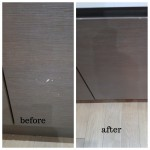 kitchen cupboard door chip repair in Chelmsford