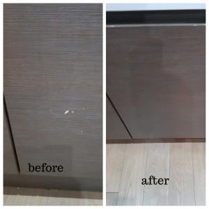 kitchen cupboard door chip repair in Chelmsford