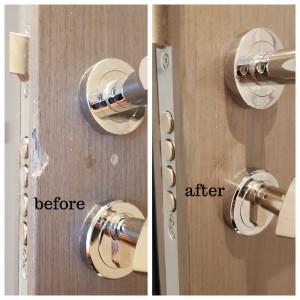 In site door damages repairs