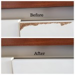 Kitchen cupboard door damage repair in South West London