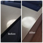 Quartz worktop chip repair