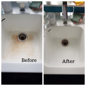 Corian worktop stains removed in London