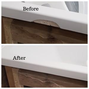 Broken bath edge repair in south west london